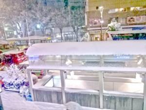 大雪の帰宅ラッシュ